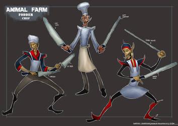 ANIMAL FARM: Enemy Unit - The Chef by KaynessArt