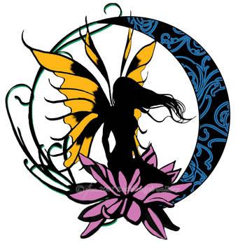 Fairy Tattoo Design Final by SpiritOnParole