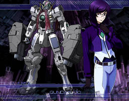 Gundam OO Tieria Wall by SpiritOnParole