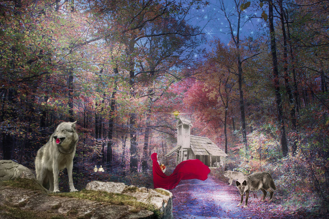 Red Riding Hood and the Wolves visit Granny's