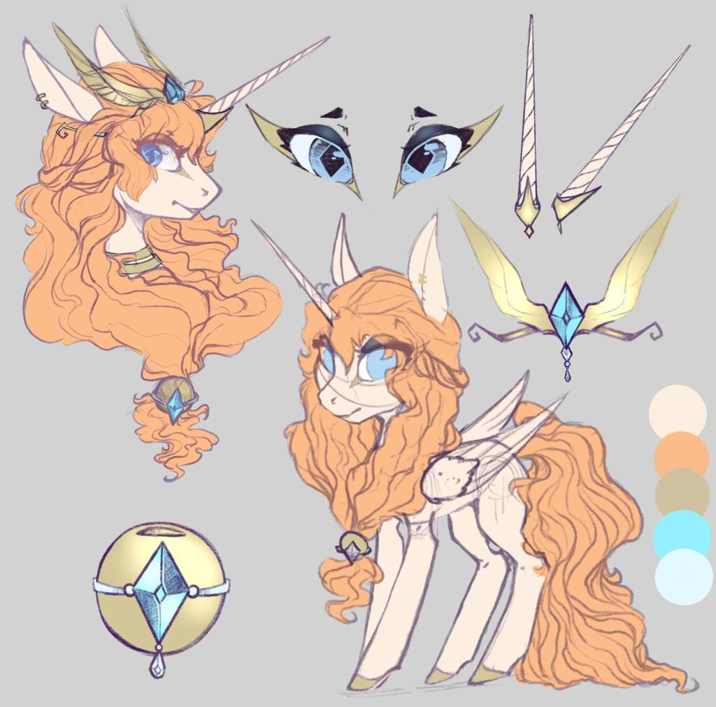 Queen Orelia- Ruler of Azuria (OC) by NebulaNovia