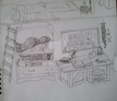 Room Sketch by akatsukipikka