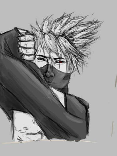 Kakashi warm-up sketch by akatsukipikka