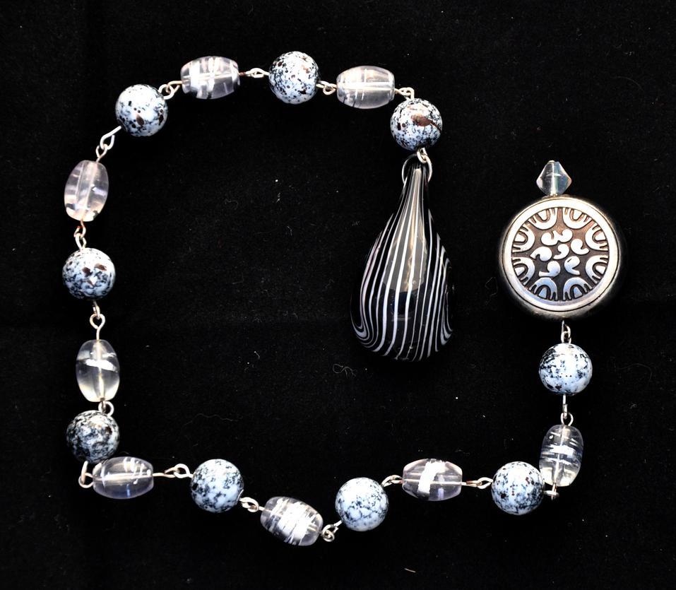 Beaded Glass Drop Pendulum by Rayvenstar