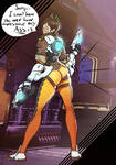 Tracer's Infamous Pose (Color) by Quikanims