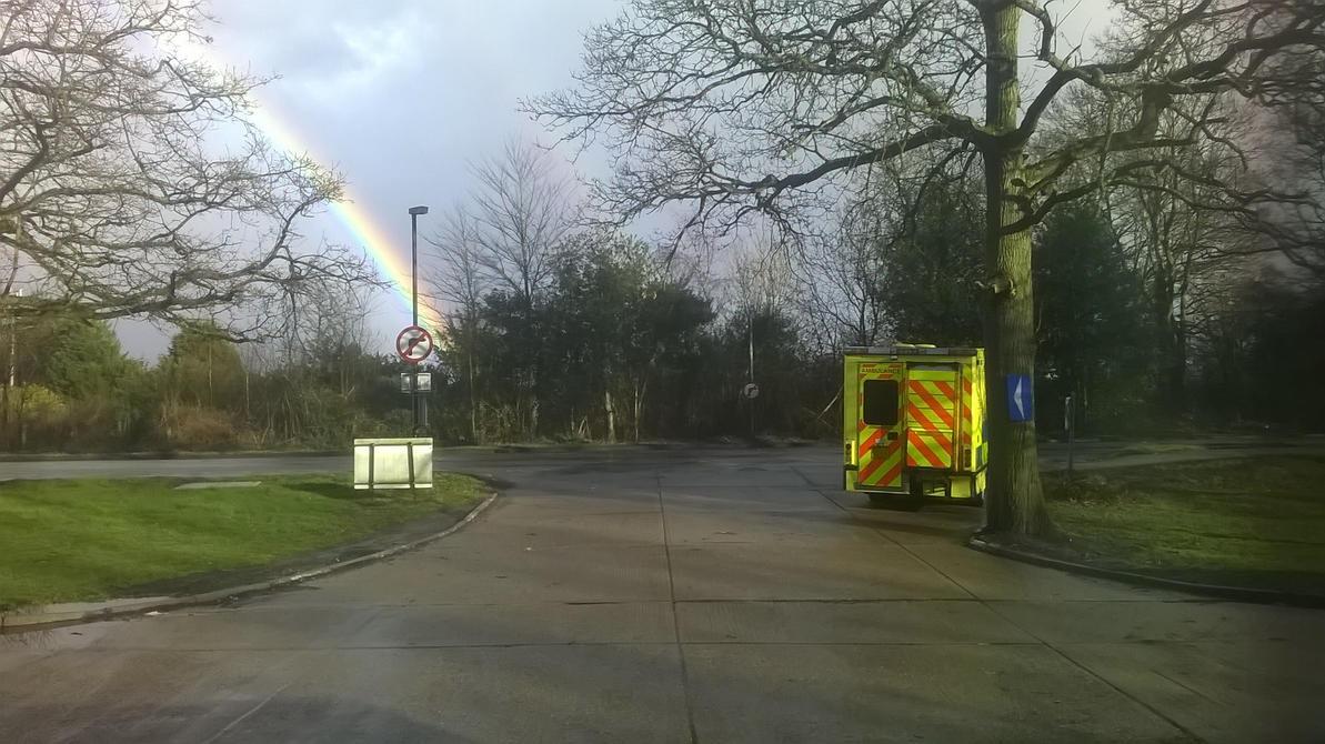 Rainbow by Chertsey station by HampshireBrony