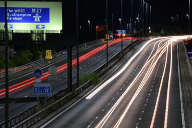 M27 Westbound - roadworks ahead