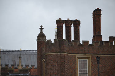 Hampton Court chimney stacks by HampshireBrony