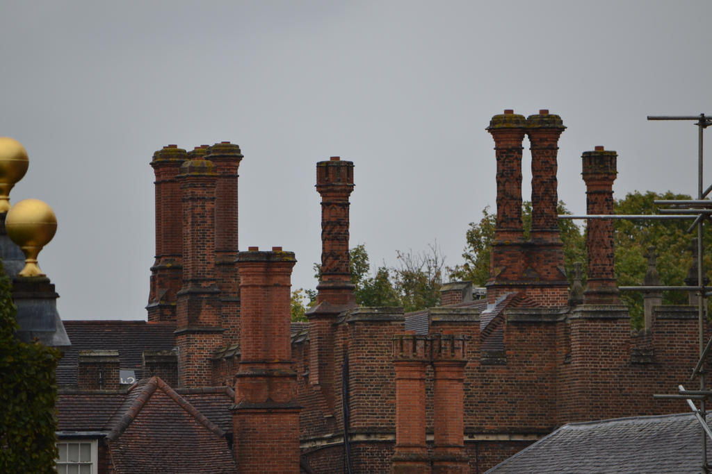 Hampton Court chimney stacks 2 by HampshireBrony