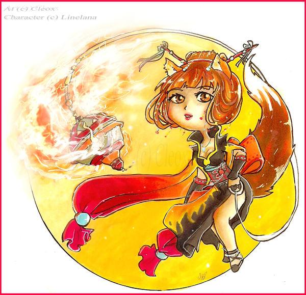 Chibi Emina .Kitsune. by Cleox
