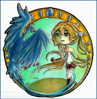 Chibi Commission .Florine x Ric. by Cleox