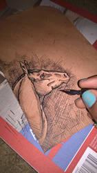 Inking Leather 2 by TijonWolfsMajestys