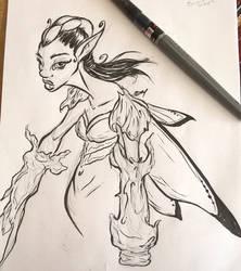 Random Fairie Warrior by TijonWolfsMajestys