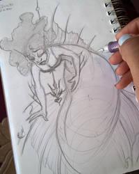Random Mermaid Sketch by TijonWolfsMajestys