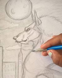 Werewolf sketch