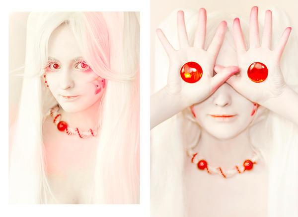 Kyubey face-art by Ashitaro