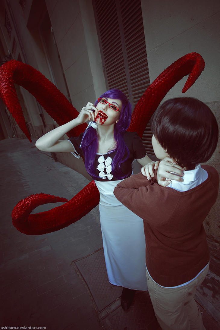 Tokyo Ghoul cosplay Ken Kaneki Kamishiro Rize by Ashitaro