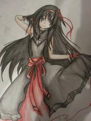 Homura Akuma (WIP) by DizzyDimensy