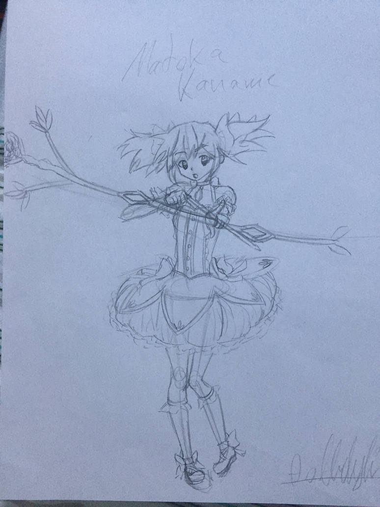 Madoka Kaname Remade WIP by DizzyDimensy
