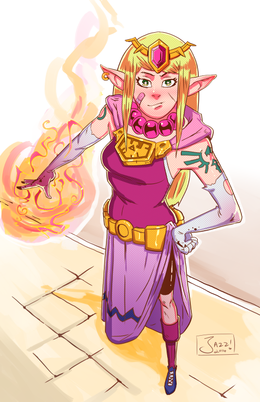 Street Fighter Zelda by jazreet911