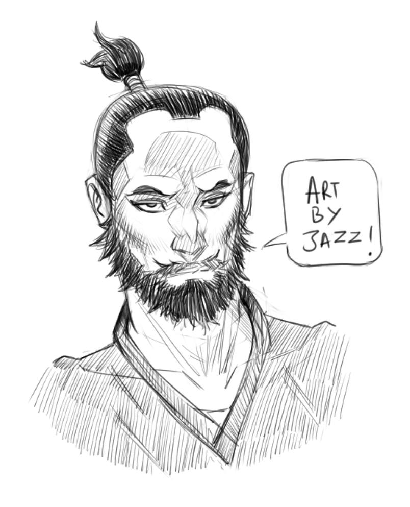 Samurai Sketch by jazreet911