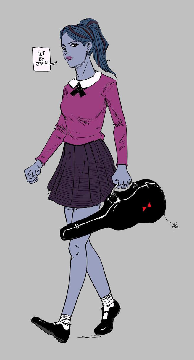 High-school Widowmaker by jazreet911