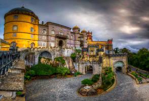 Pena National Palace - the gates by roman-gp
