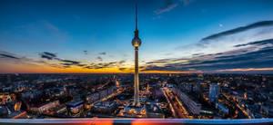 Berliner Fernsehturm at sunset by roman-gp