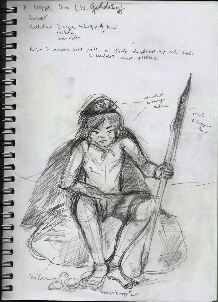 roger s sketch lord of the flies by bejkutyej on  roger s sketch lord of the flies by bejkutyej