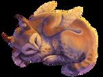 YCH: a sleeping cutie by AnastasiyaVB