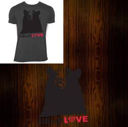 bear love - 2007 shirt design by RoyalBlade