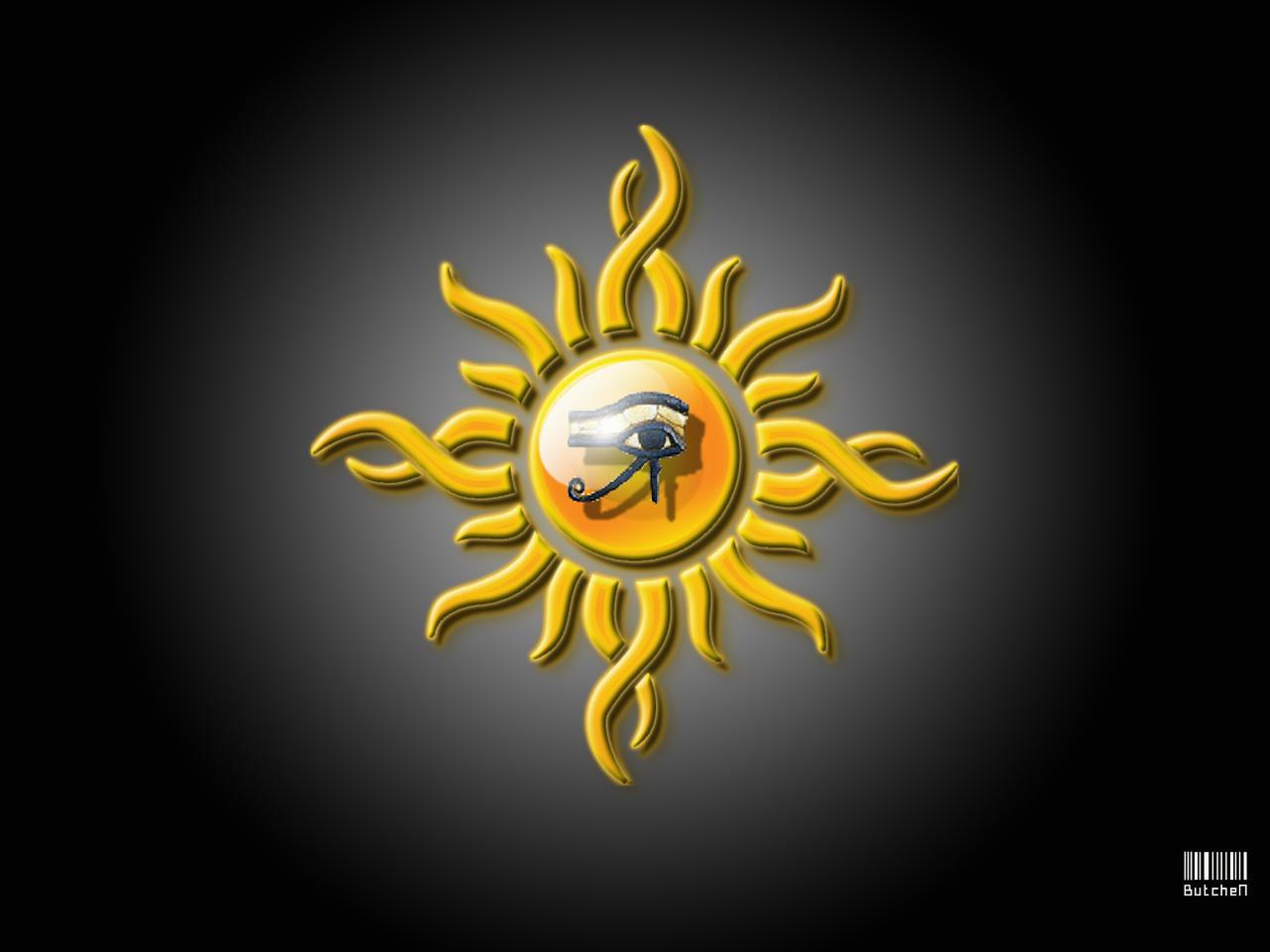 eye of ra tribal sun by butchen on deviantart