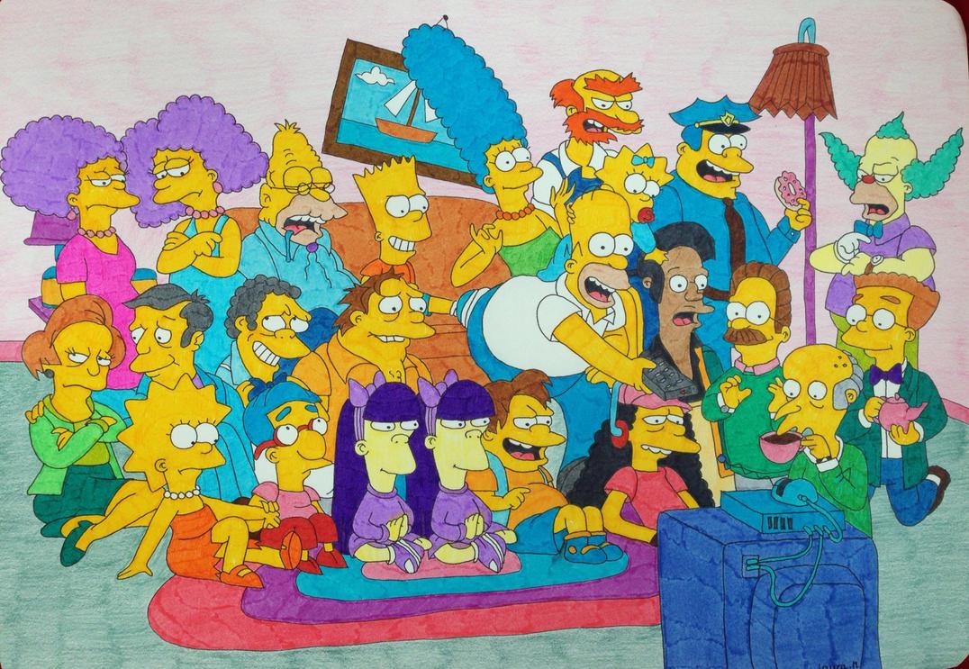 The Simpsons by LMushrimp