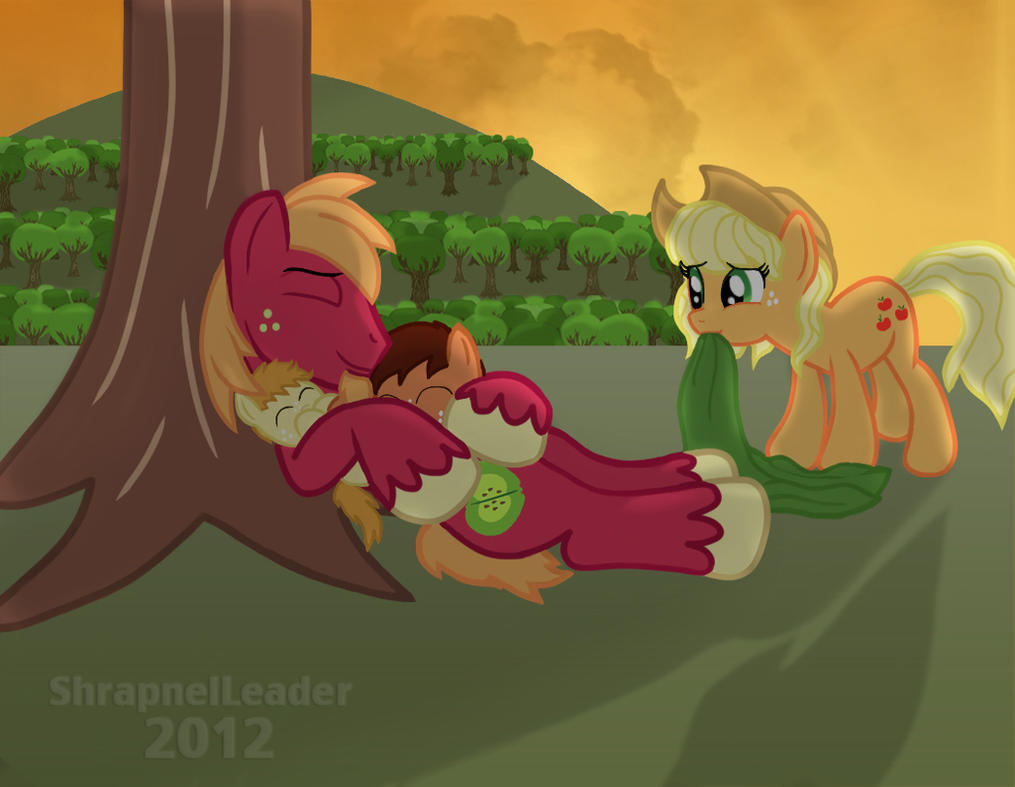 Applejack's sons and Uncle Macintosh by ShrapnelLeader