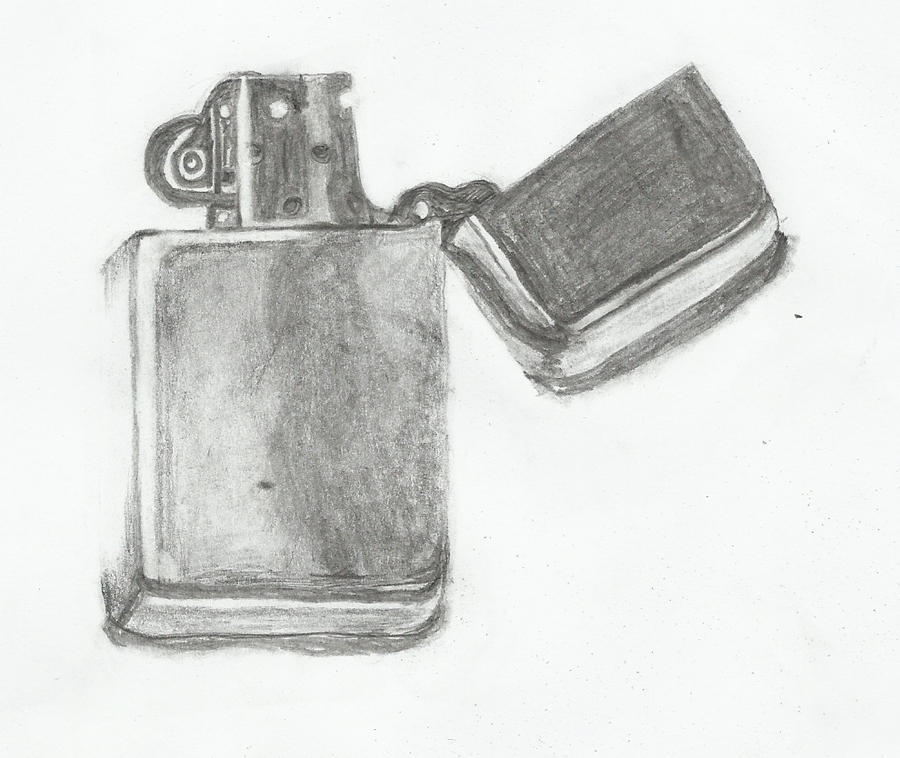 lighter sketch by owais-ali Cool Lighter Drawings