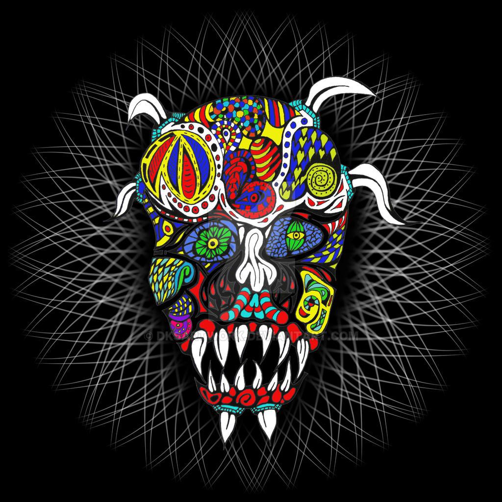 Skull Doodle by dksartwork