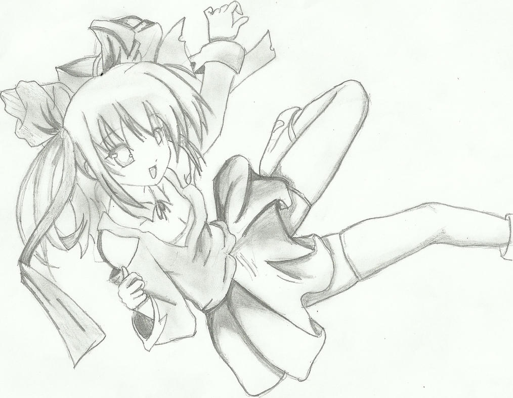 Viewing Gallery For - Anime Falling OverGirl Falling From Sky Drawing