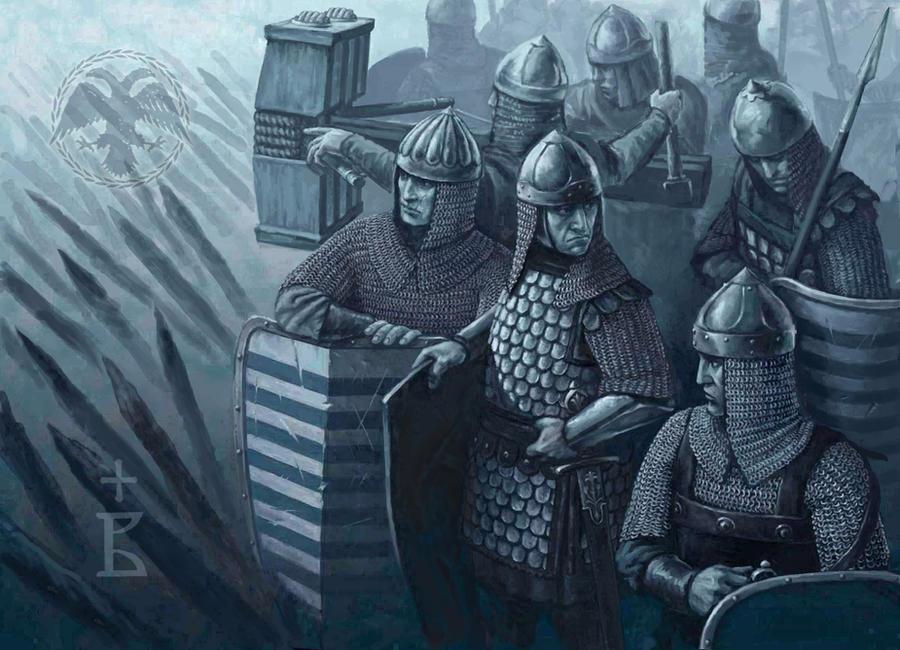 Byzantine infantry by krstovukoje