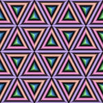 Triangles or Cubes Illusion
