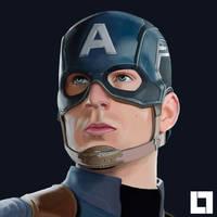 portrait - Captain America The Winter Soldier by larsloenstrup