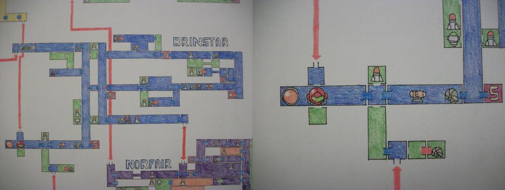 Metroid Zero Mission Map Closeup Brinstar By Yoshifan37 On Deviantart