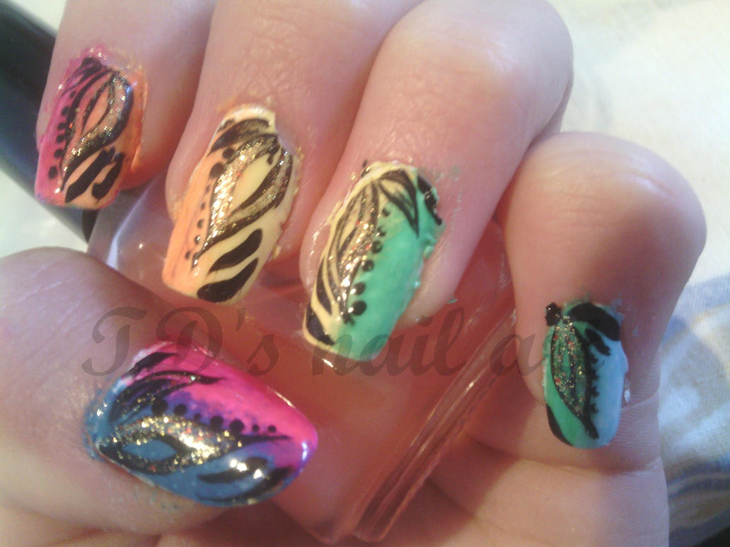 Nail art miami ~ Beautify themselves with sweet nails