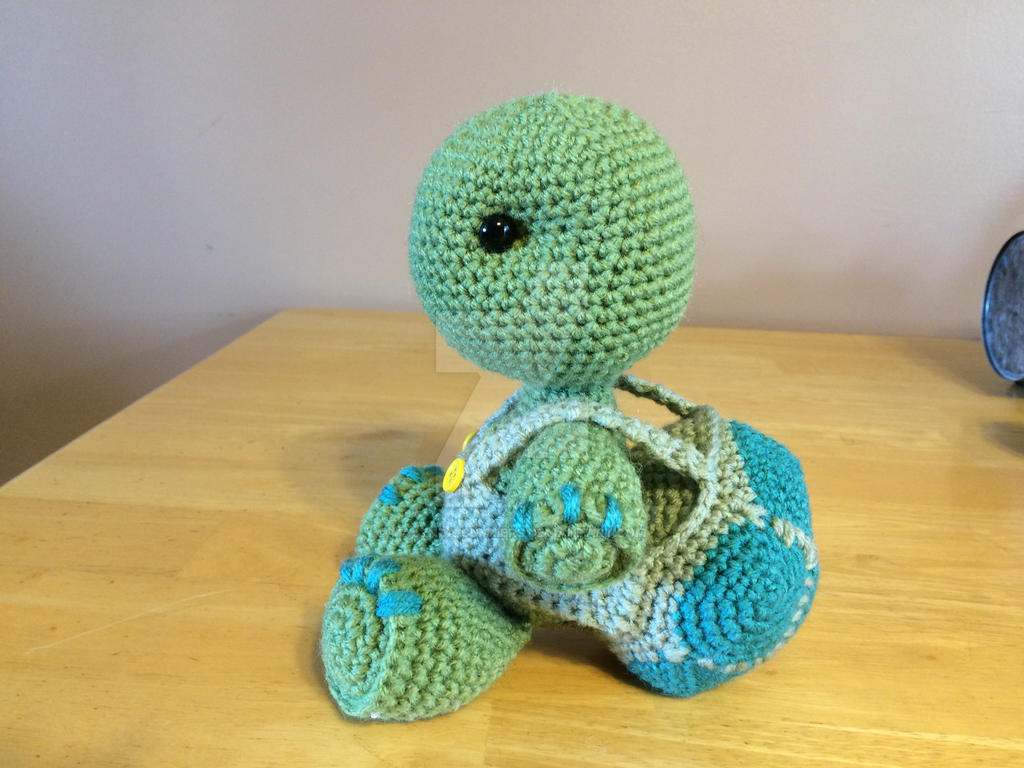 Amigurumi Turtle : Cute turtle with removable shell by malynda summers on deviantart
