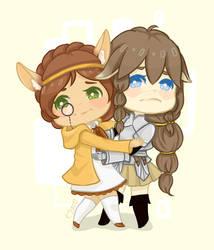Comm :: Awkward hugs by ufo-galz