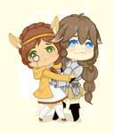 Comm :: Awkward hugs