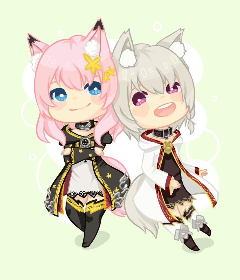 Comm :: Kuroma and Shiroma by ufo-galz