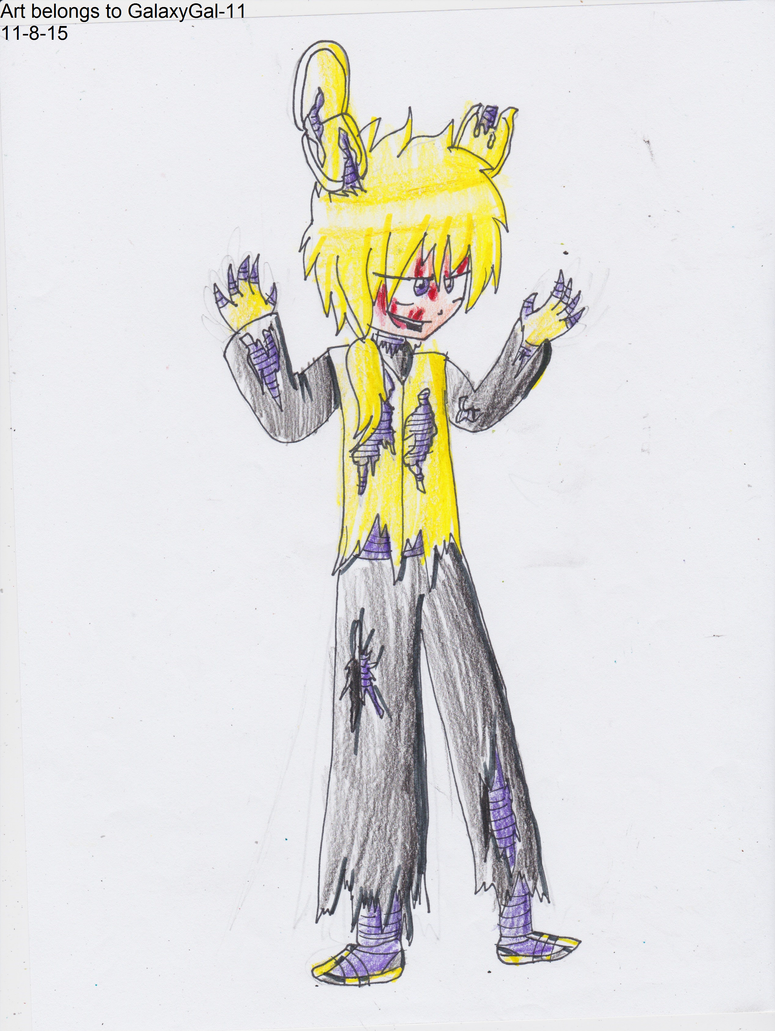 Fnaf anime springtrap the sprinclocked bunny by galaxygal 11 on