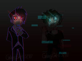 (AntiSepticEye  Darkiplier)Did You Miss Us? by GalaxyGal-11