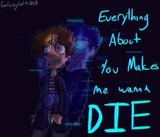 (BMC)You Make me Wanna Die(REDRAW) by GalaxyGal-11