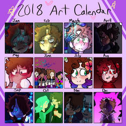 Art Calendar 2018 by GalaxyGal-11